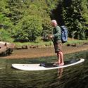 Paddle boarding on the Albion River