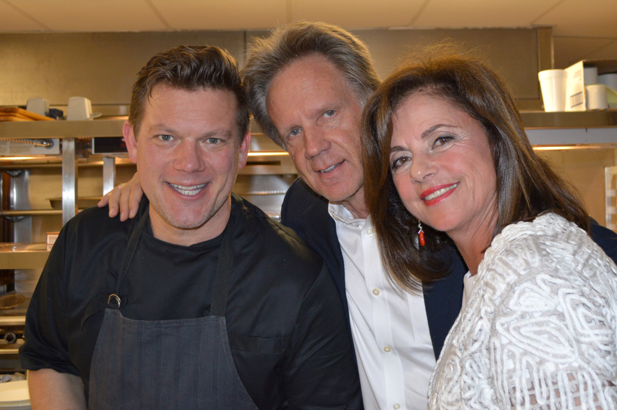 Society Scene photos - Tyler Florence, Bernard Lackner and Bonnie Verbitzky
