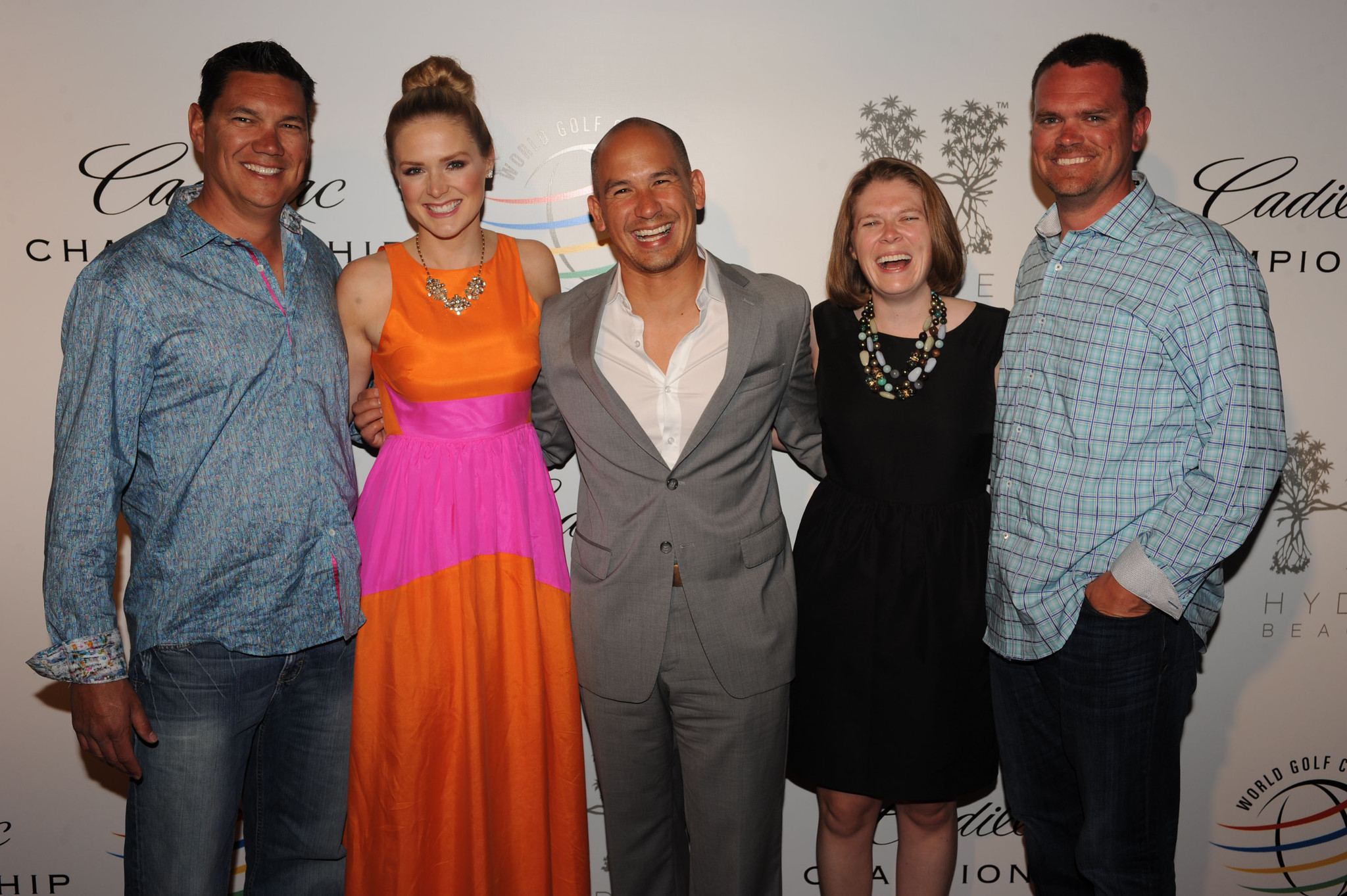 World Golf Championships-Cadillac Championship parties - Chad Burgess, Chelsea Stewart, Max Novena, Megan Costello and Chad Kane