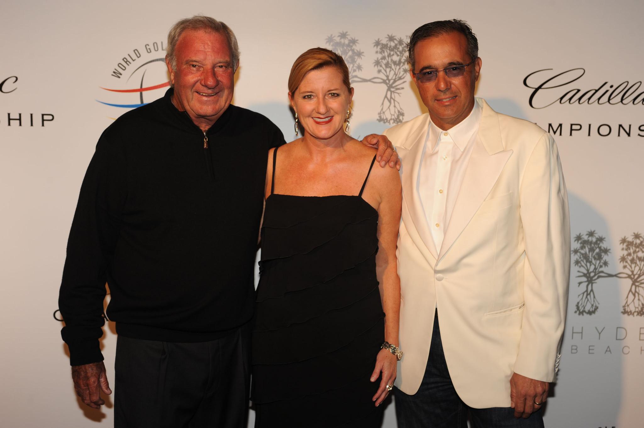 World Golf Championships-Cadillac Championship parties - Butch Buchholz, Kathleen Walinsky and Andres Gaviria