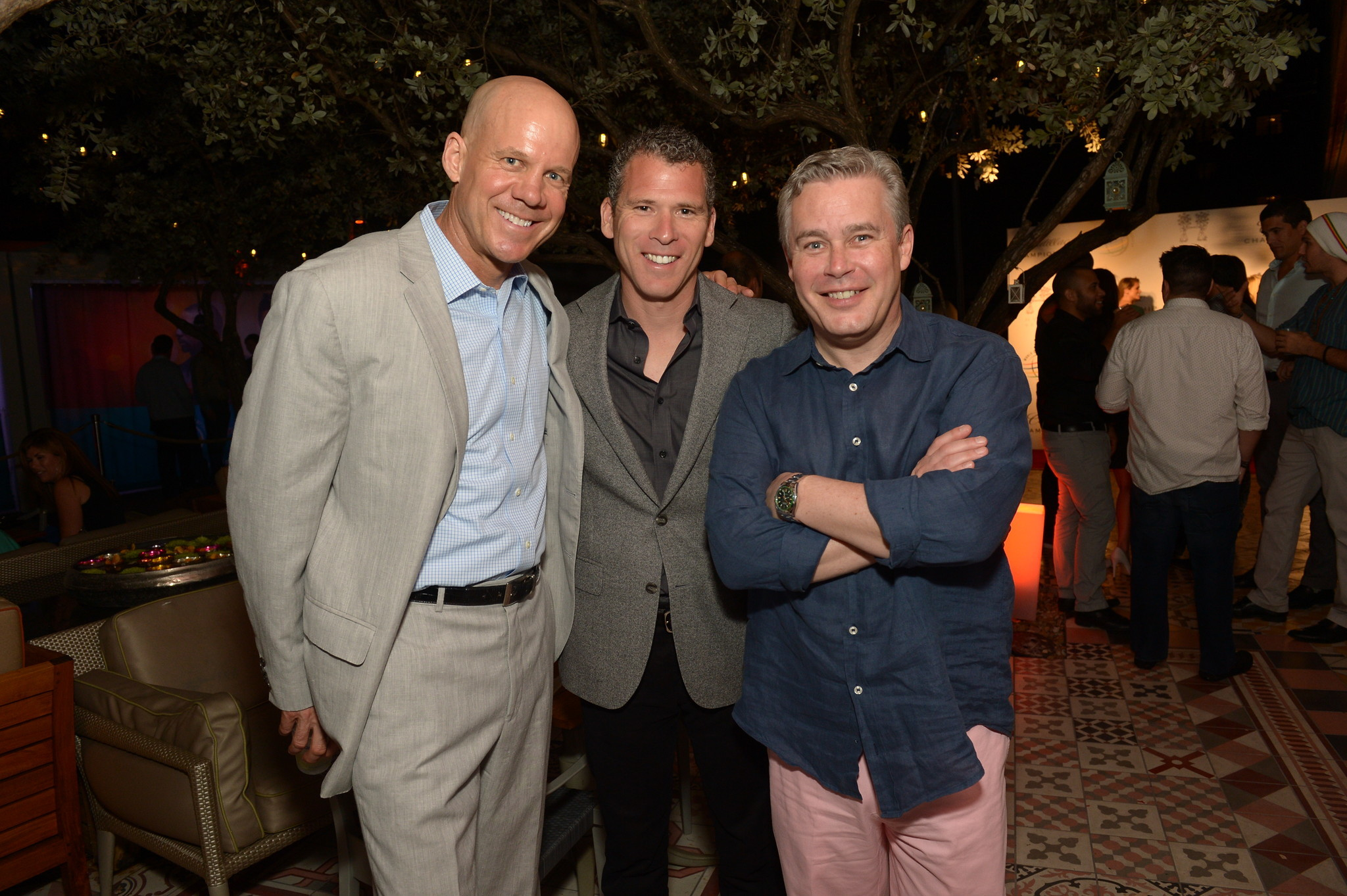 World Golf Championships-Cadillac Championship parties - David Pillsbury (L) and guests