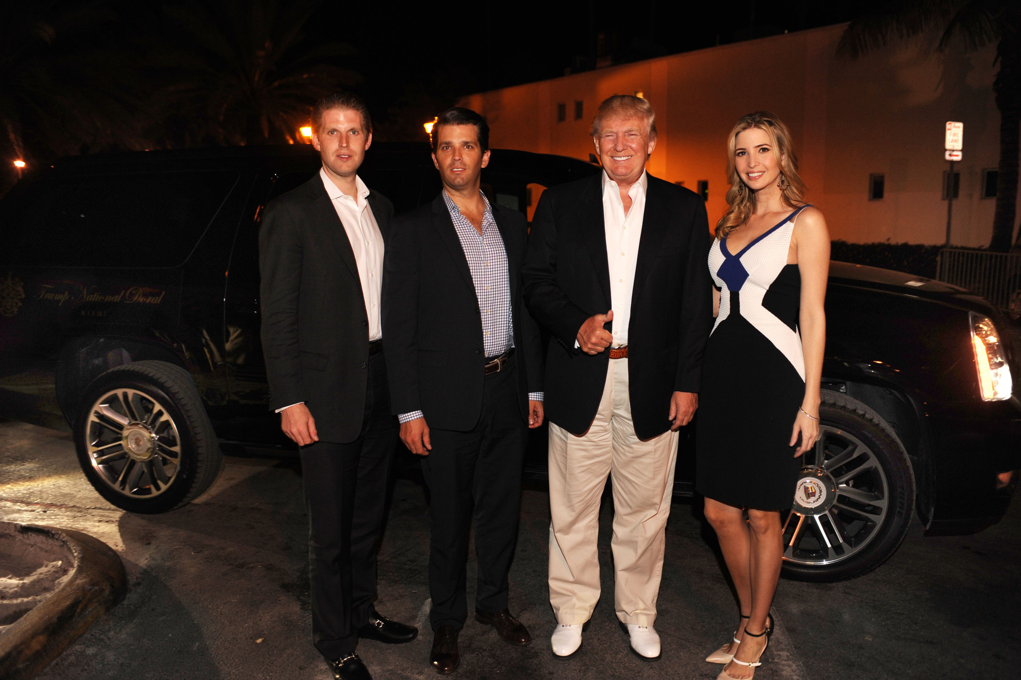Celeb-spotting around South Florida - Eric Trump, Donald Jr. Trump, Donald Trump and Ivanka Trump