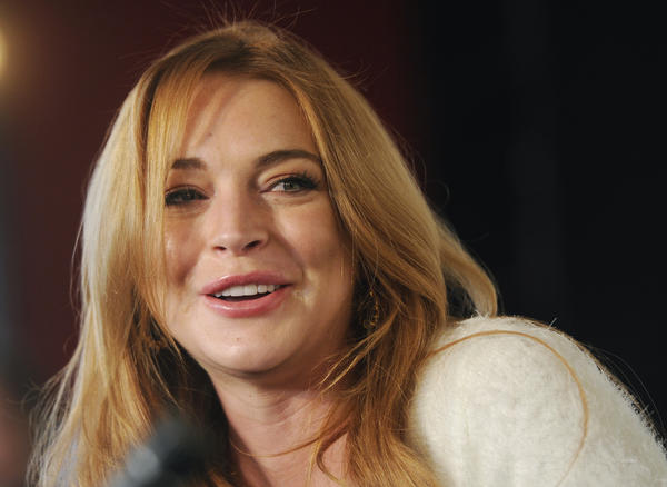 Lindsay Lohan, shown addressing reporters at the Sundance Film Festival in Park City, Utah, in January, has a new docu-series coming out Sunday.