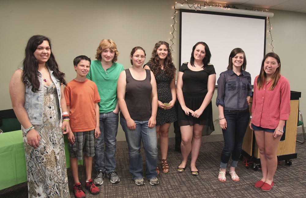 Teens who took part in the 2013 Tolland Public Library poetry slam.