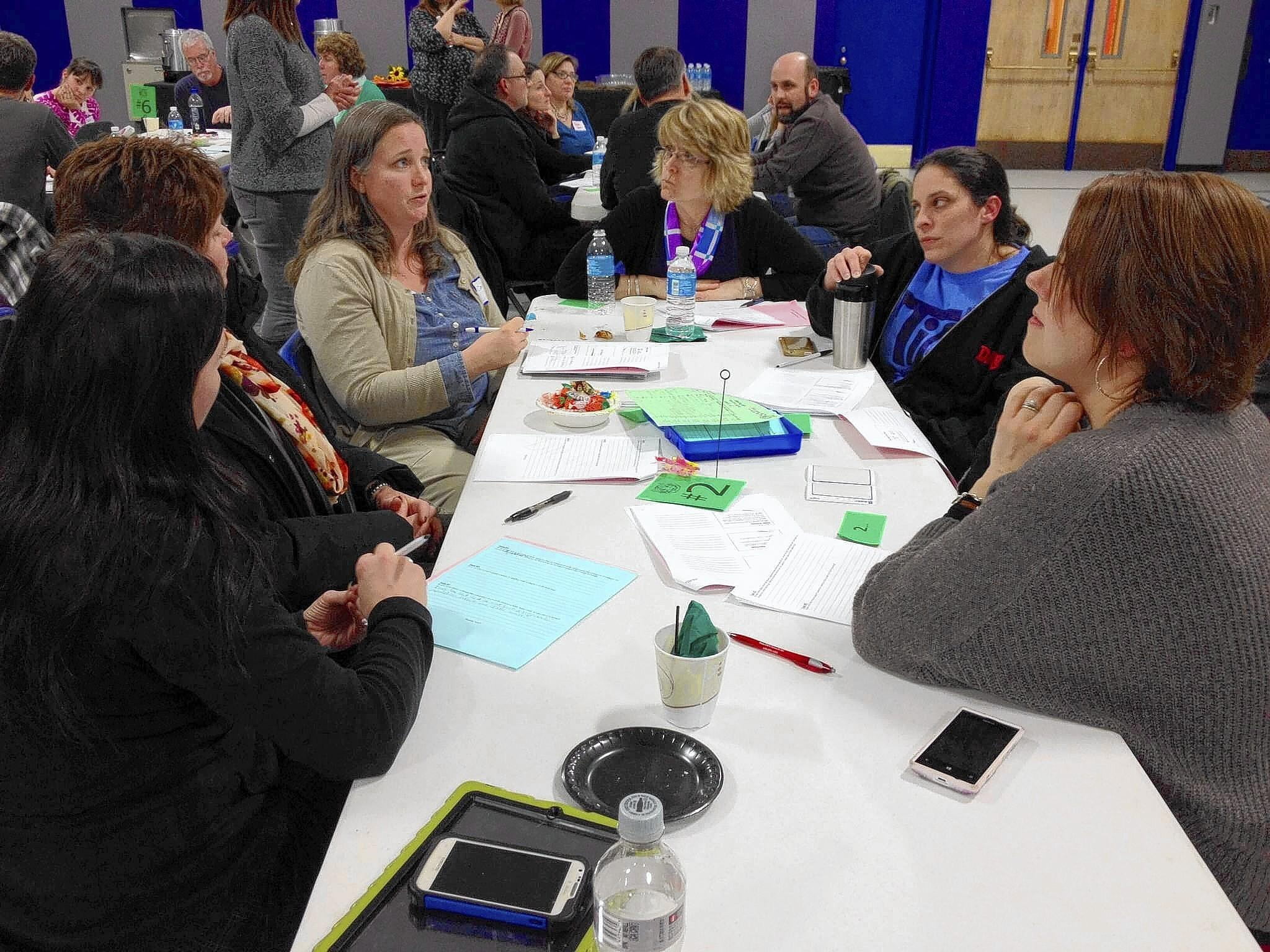Parents and faculty at Richmond and Davis schools focused on new assessments for math based on conceptual learning at a forum last month.