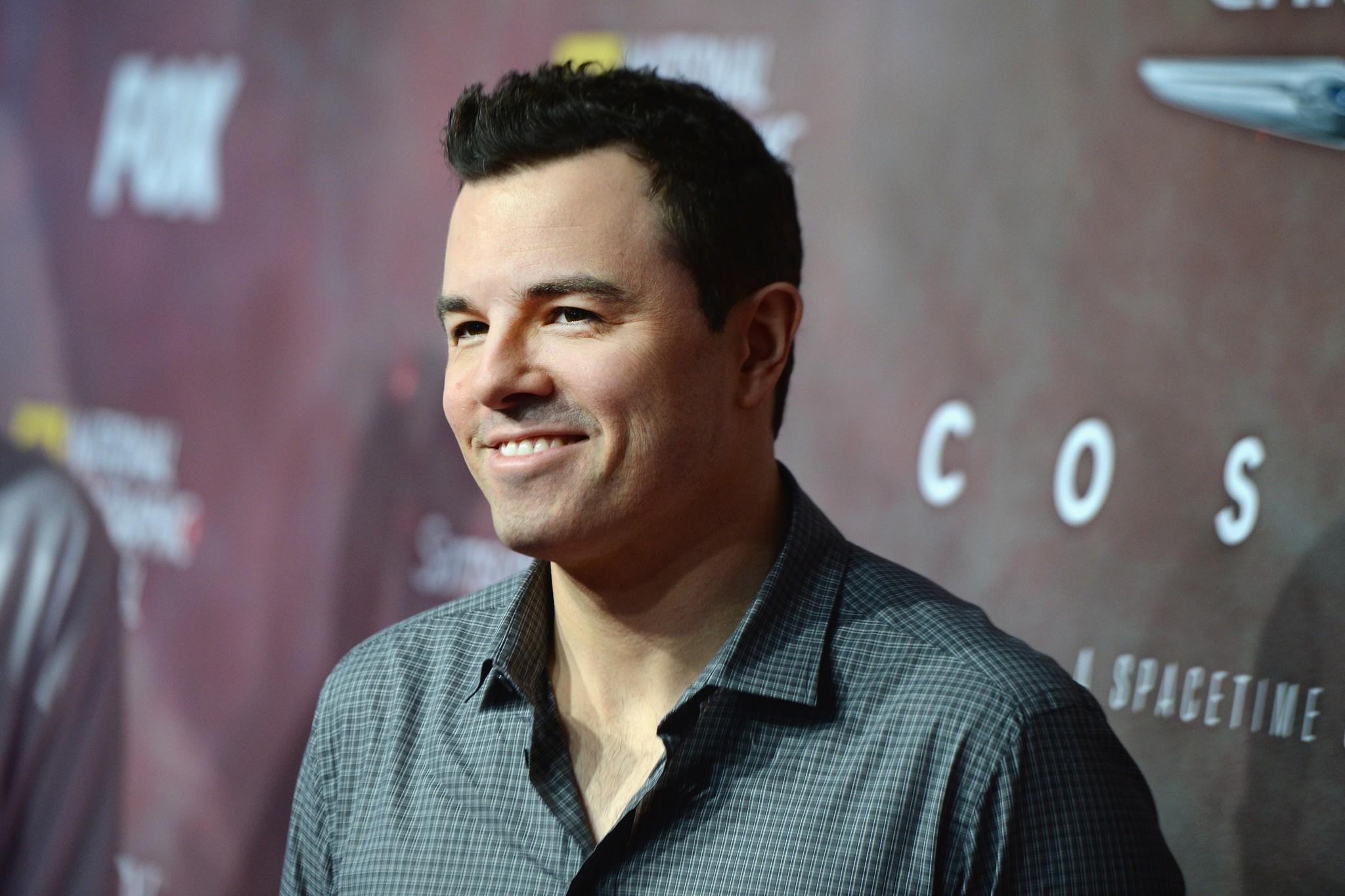 "Executive producer Seth MacFarlane attends the premiere of Fox's ""Cosmos: A SpaceTime Odyssey"" at the Greek Theatre on Tuesday in Los Angeles."