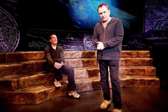 "Jerry Seinfeld directs Colin Quinn in ""Colin Quinn: Long Story Short"" at the Broadway Playhouse."