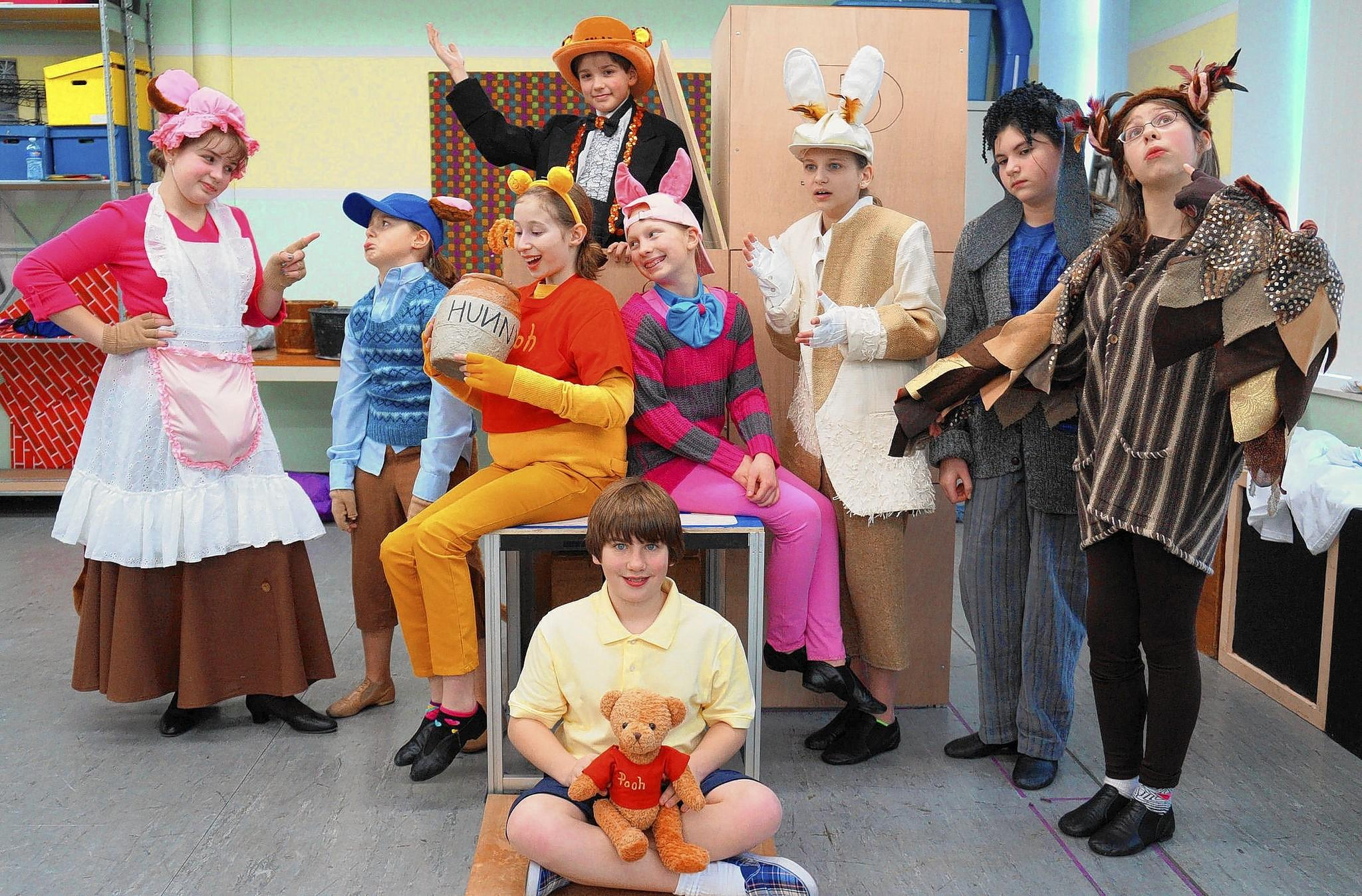 The cast of Winnie the Pooh at Pennsylvania Youth Theatre.