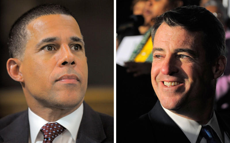 Lt. Gov. Anthony Brown, left, and Attorney General Douglas Gansler, right, are two Democratic candidates for Maryland governor.