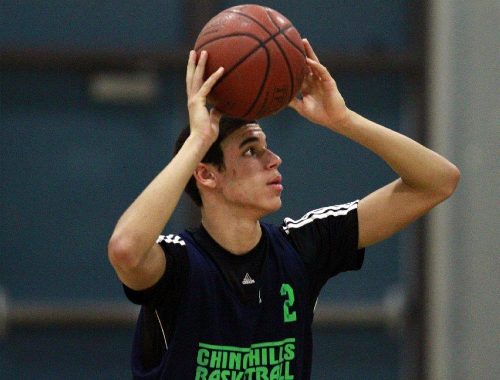 Chino Hills' guard Lonzo Ball practices on Nov. 20.