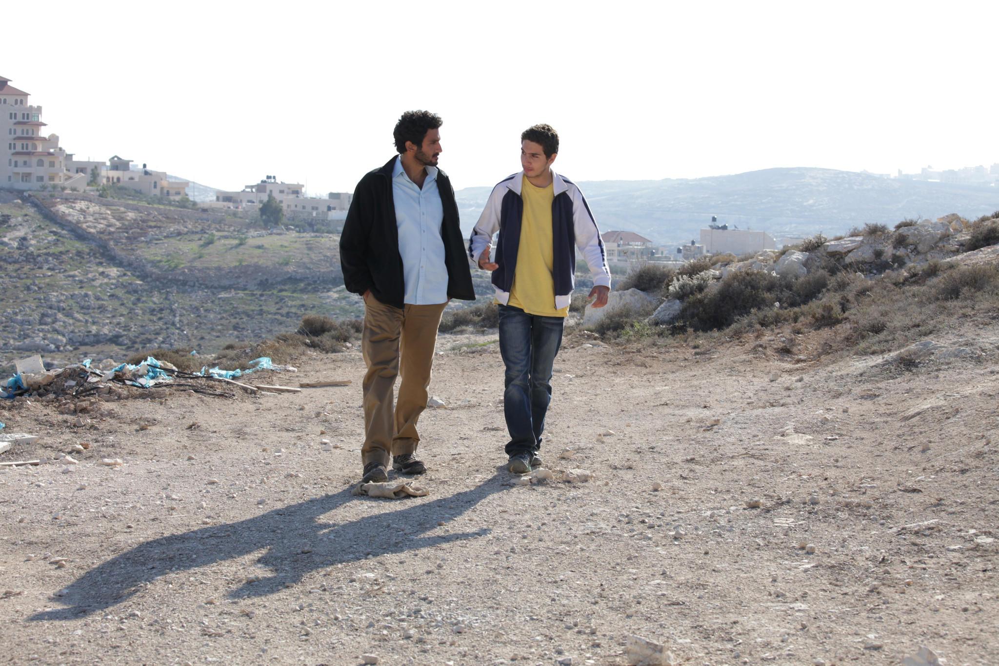 "Tsahi Halevi (Razi) and Shadi Mar'i (Sanfur) in the film ""Bethlehem."""