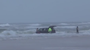RAW Video: Lady Drives Van Into Ocean