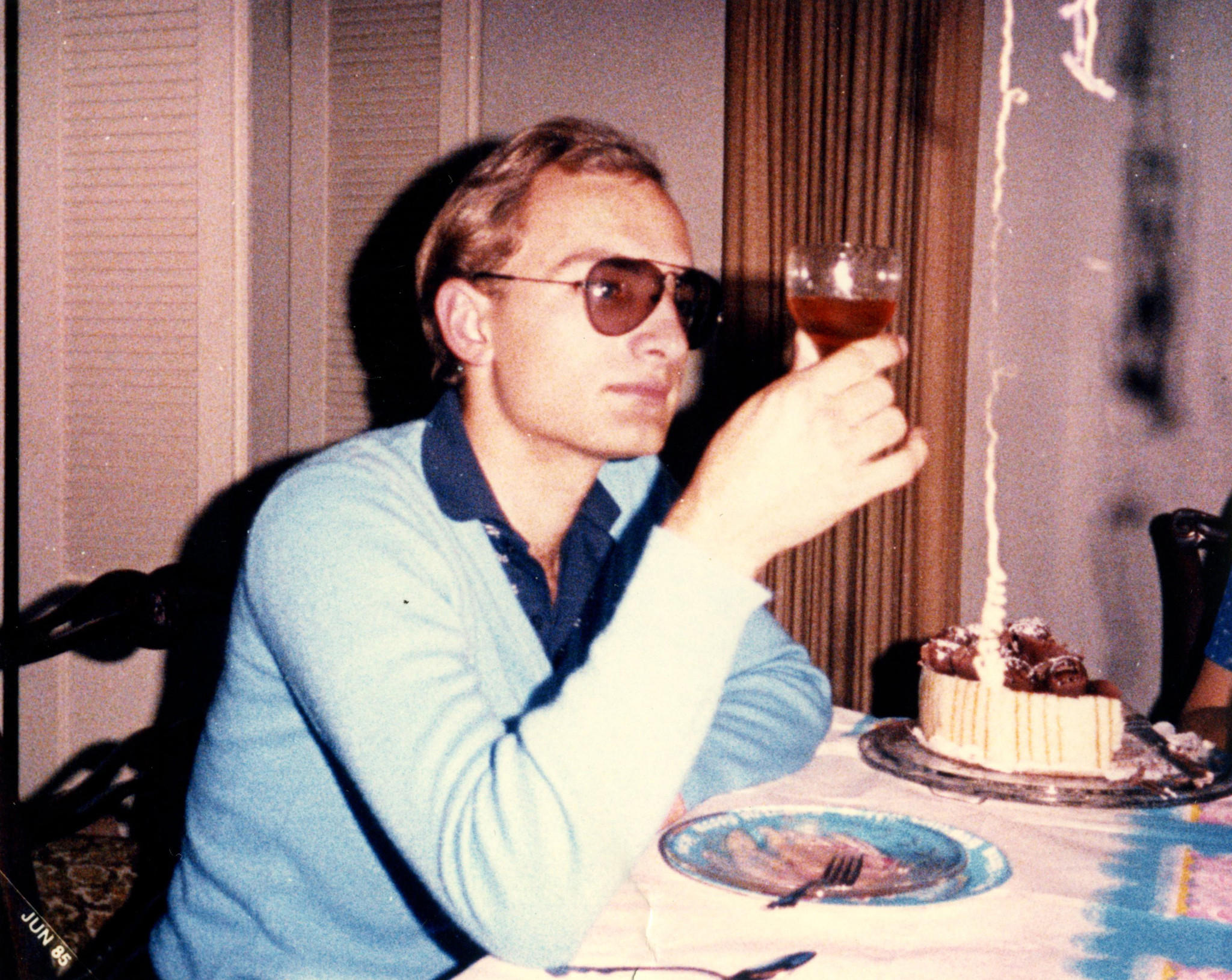 Christian Gerhartsreiter, whose several assumed identities included Clark Rockefeller, at a birthday party in 1984.