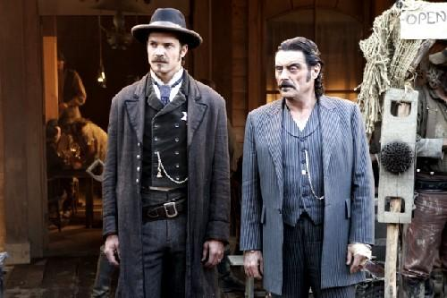 """Deadwood,"" starring Timothy Olyphant and Ian McShane."