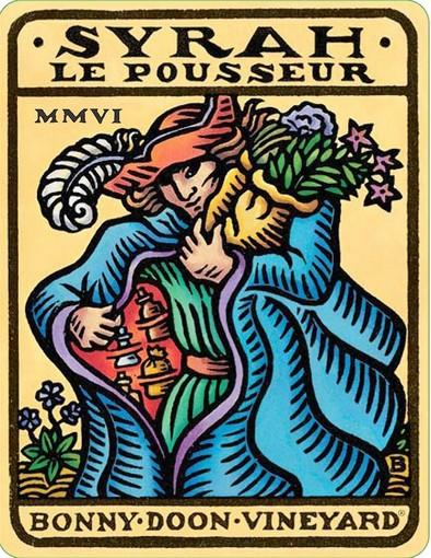 Bonny Doon Syrah Le Pousseur label.