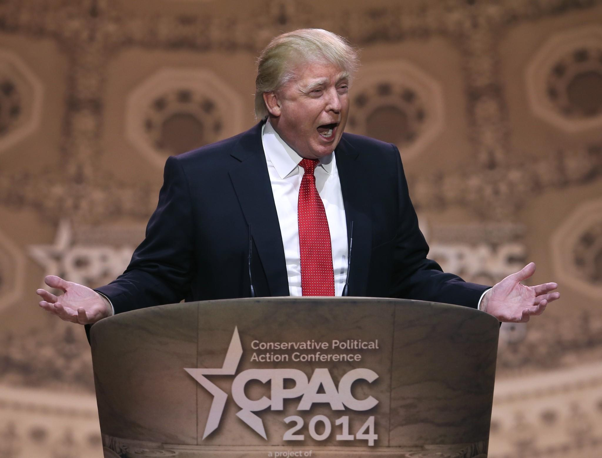 Donald Trump, who spoke without a TelePrompTer, entertained the conservative crowds at the annual CPAC conference of the American Conservative Union on Thursday.