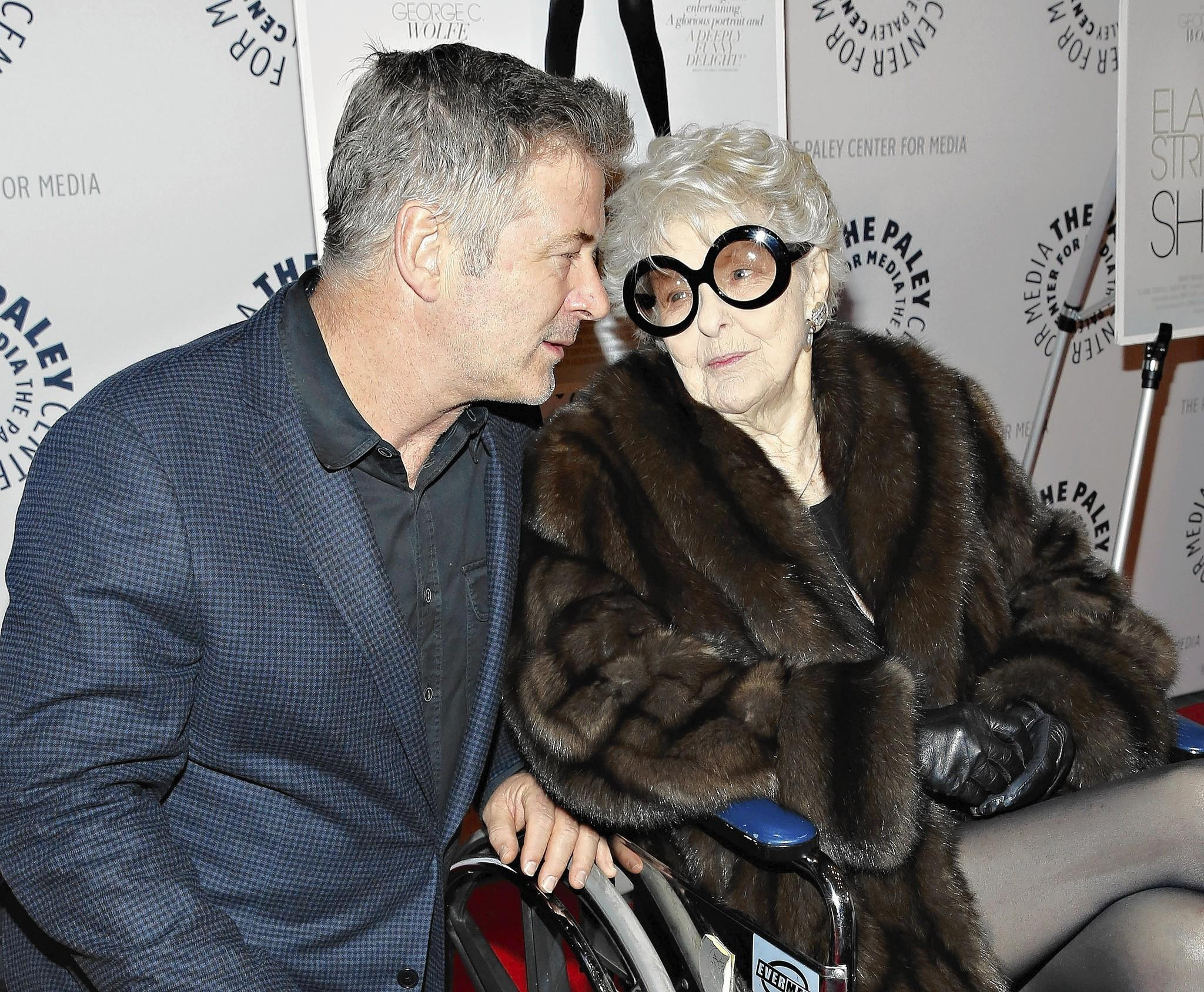 """Actors Alec Baldwin and Elaine Stritch attend the """"Elaine Stritch: Shoot Me"""" screening at Paley Center For Media on in New York City."""