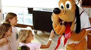 A Disney cruiser cheers the Mouse
