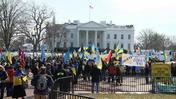 Anti-Russian protesters rally outside White House