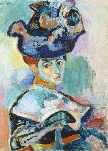 """Femme au Chapeau"" (Woman With a Hat), by Henri Matisse, 1905."