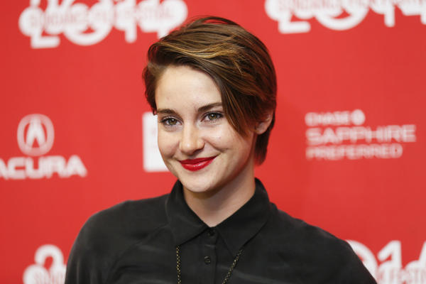 "Shailene Woodley poses at the premiere of the film ""White Bird in a Blizzard"" during the 2014 Sundance Film Festival on Jan. 20."