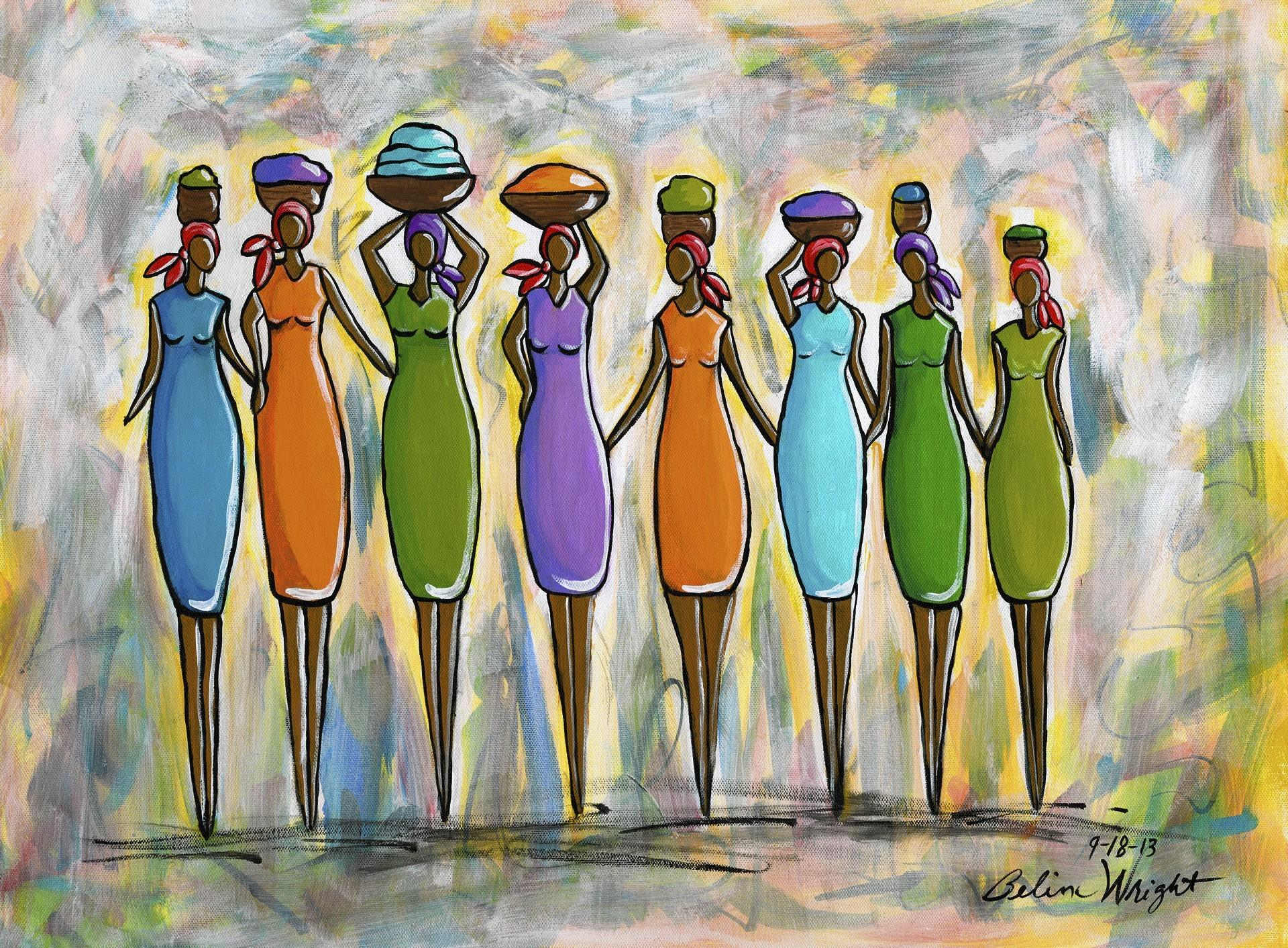 """Community of Women"" by artist Belina Wright."