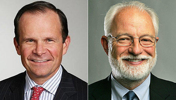 Tribune Co. on Thursday named veteran media executive Jack Griffin, left, CEO of the soon-to-be Tribune Publishing, which will include eight newspapers including the Los Angeles Times. Eddy Hartenstein, right, who has been publisher of The Times since August 2008, will become chairman of Tribune Publishing.