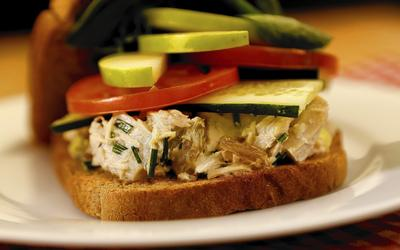 La Grande Orange's tuna salad sandwich