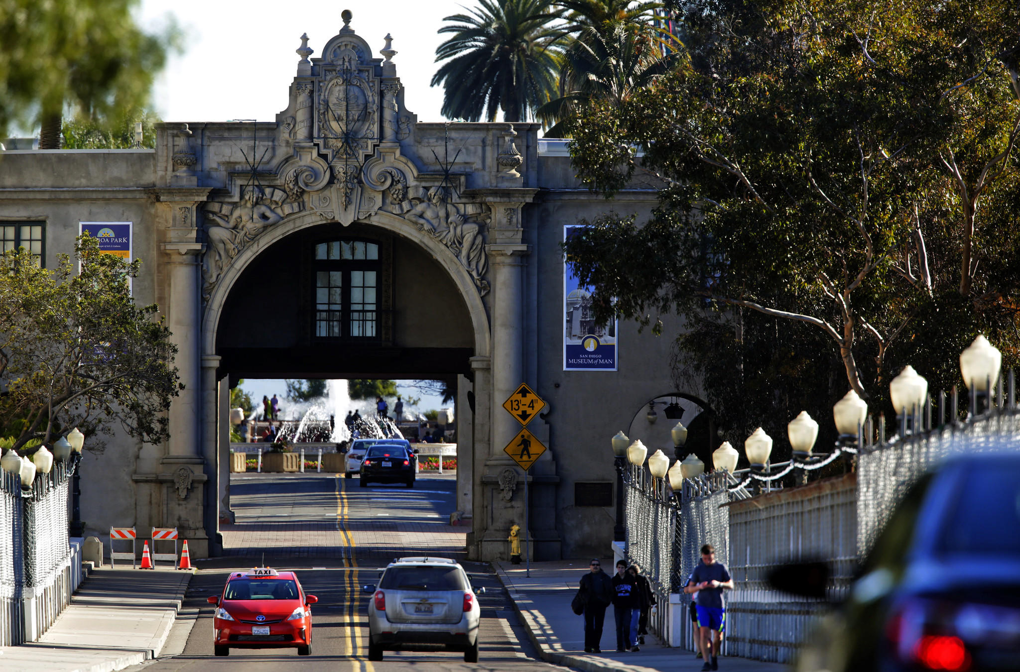 The Cabrillo Bridge in Balboa Park.