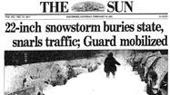 Baltimore Sun front pages: Top snowstorms in region