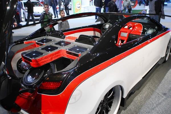 A Cartel Customs-customized Scion is on drew a crowd at the Chicago Auto Show at McCormick Place in Chicago.
