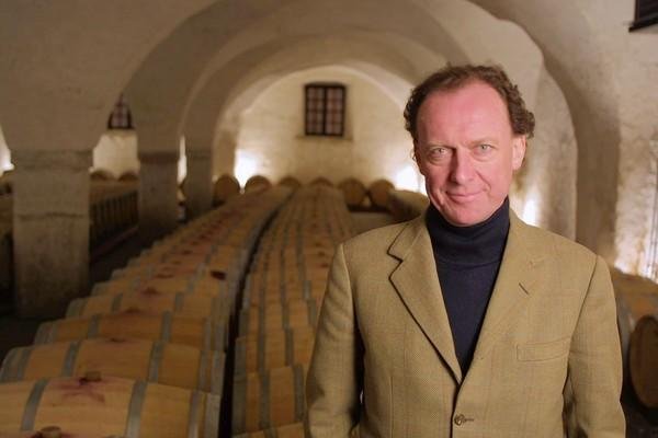 Alois Lageder in his winery's cellar.