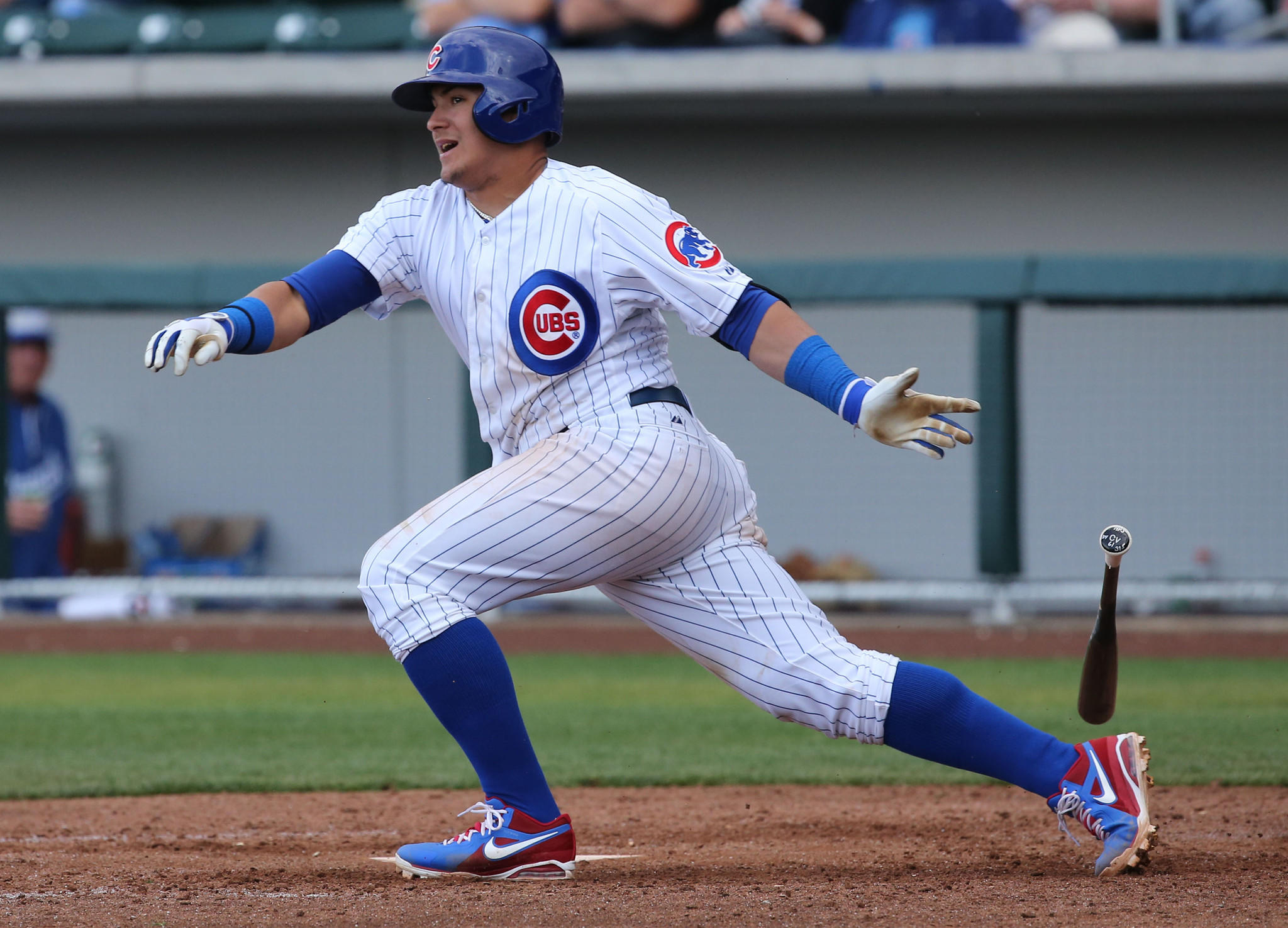 Cubs' Javier Baez during a spring training game in Arizona.