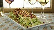 Recipe: Celery salad with pig ear, bacon and walnuts
