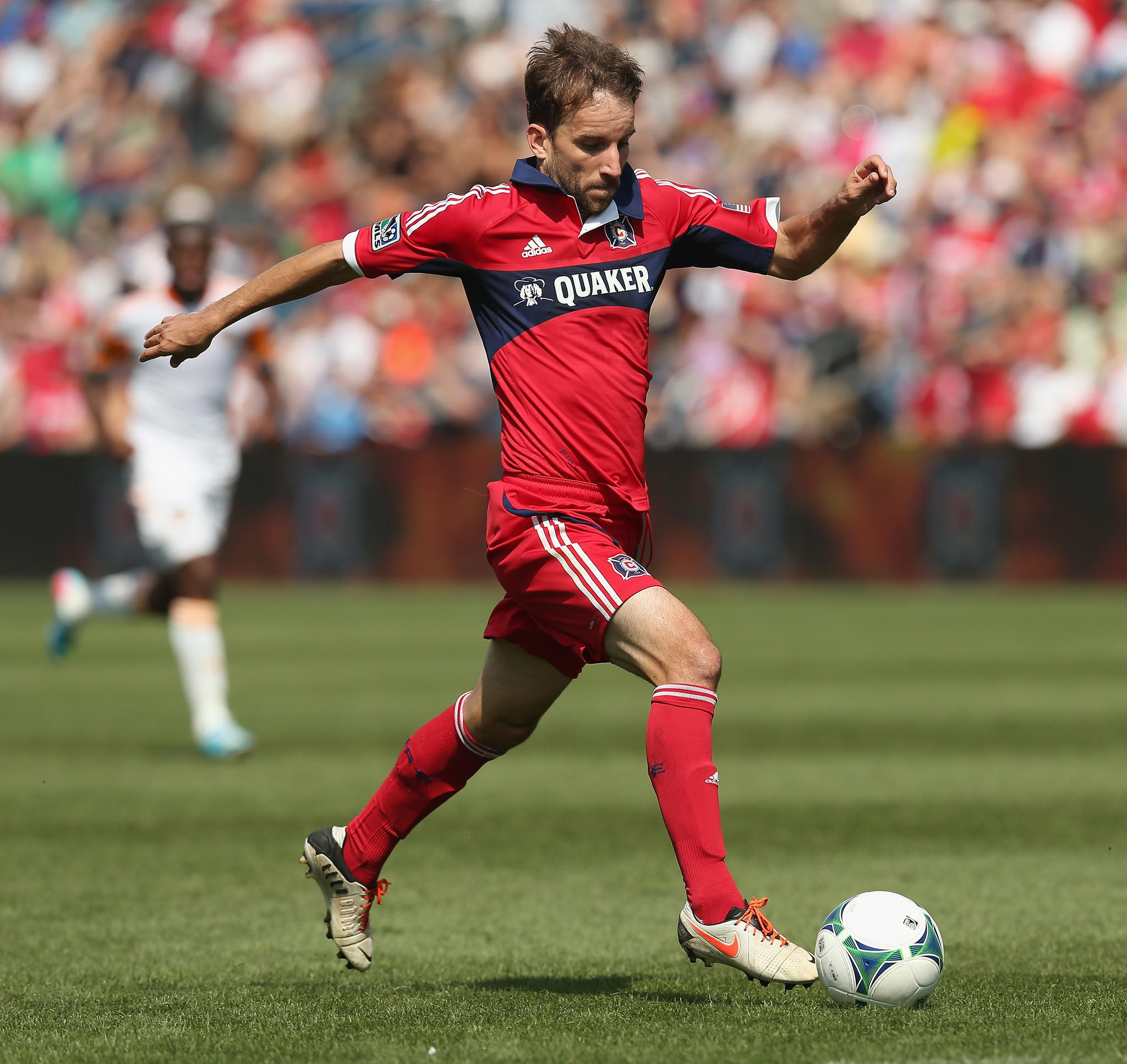 Mike Magee of the Chicago Fire during a game in 2013.