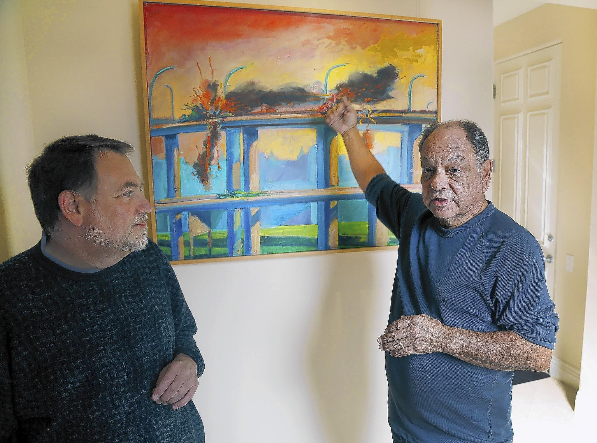 Cheech Marin, right, and Howard Fox, retired from his job as a LACMA contemporary art curator, are working on a show by the late L.A. Chicano painter and print-maker Carlos Almaraz.