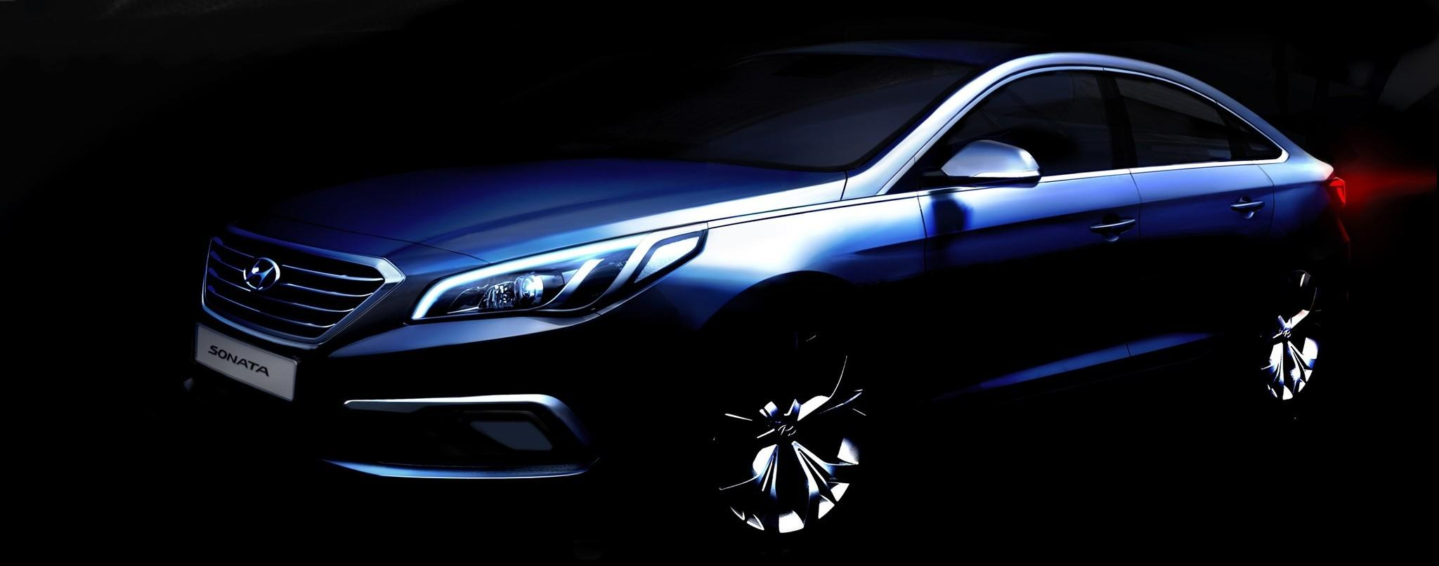 Hyundai's all-new Sonata is seen in a rendering.
