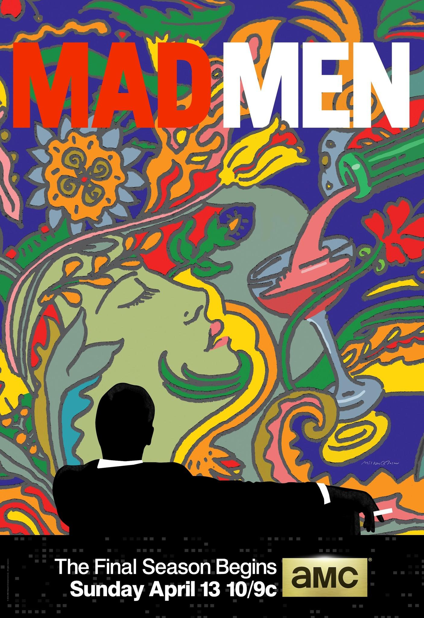 "Milton Glaser created this key art for Season 7 of ""Mad Men."""