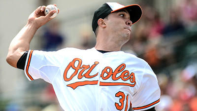 Ubaldo Jimenez throws two perfect innings in Orioles debut