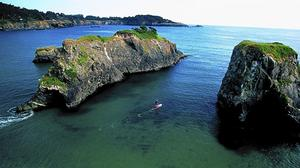 Paddle boarding off Mendocino's coast rewards with tranquillity