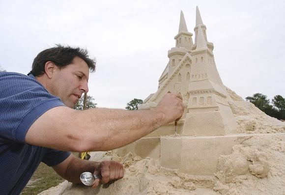Sand sculpting at Cape Canaveral festival