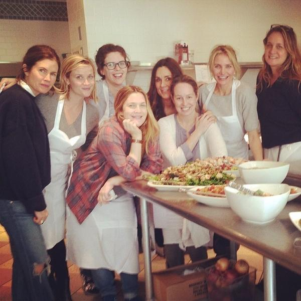 "Reese Witherspoon, Drew Barrymore and Cameron Diaz's ""girls trip"" to Napa Valley included a cooking lesson that the ladies documented on social media."