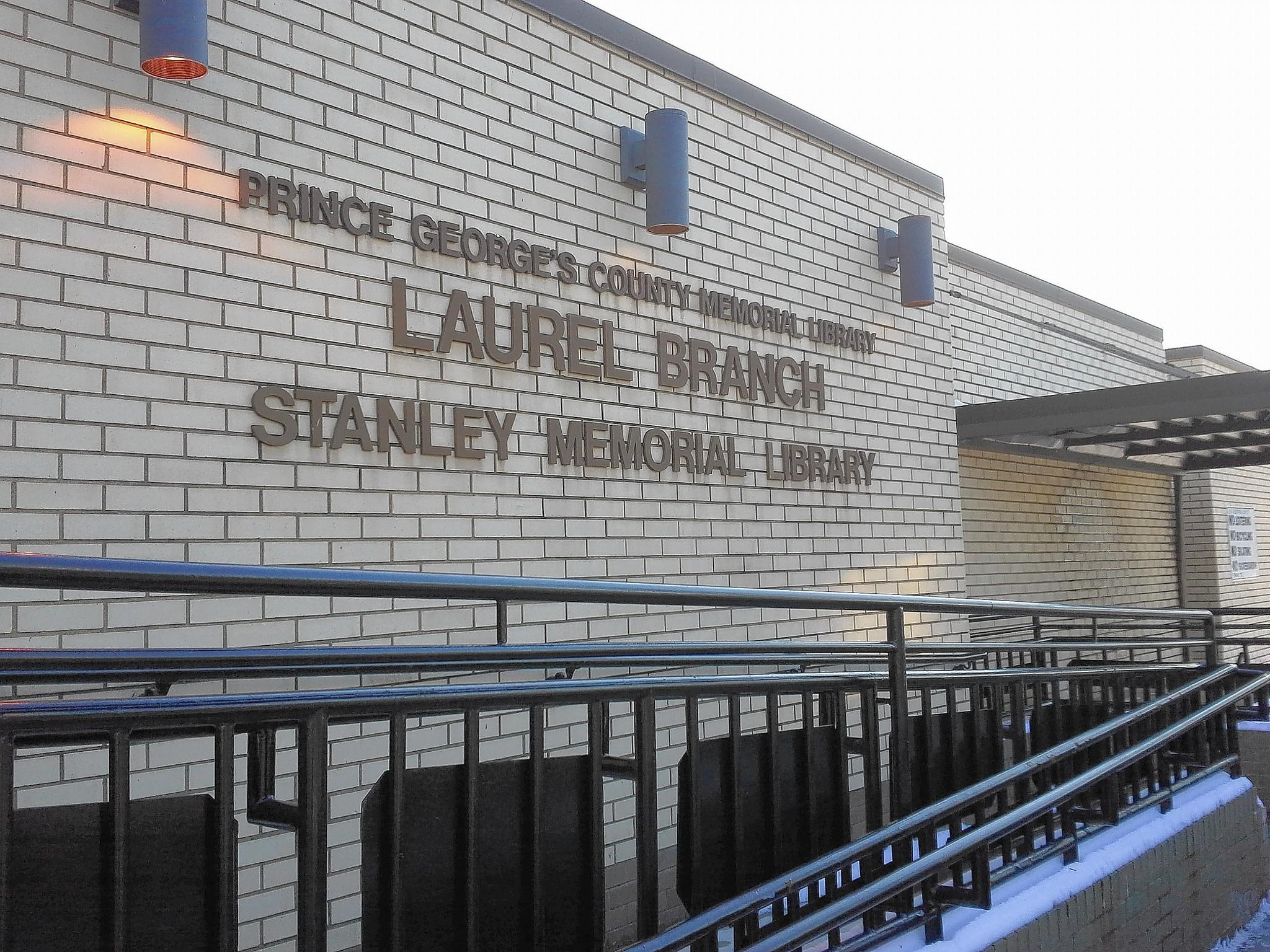 """The Laurel library was named """"Stanley Memorial Library"""" as directed in the deed giving the land from the Stanley family."""