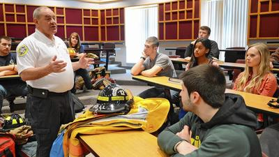 At Parkland, firefighting class blazes back