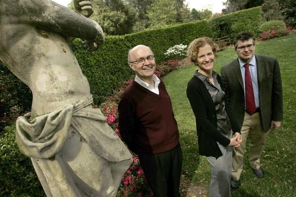 At the Huntington, Harold Nelson, left, has come on as the new curator of American decorative art, Catherine Hess is chief curator of European art and Kevin Murphy is associate curator of American Art.