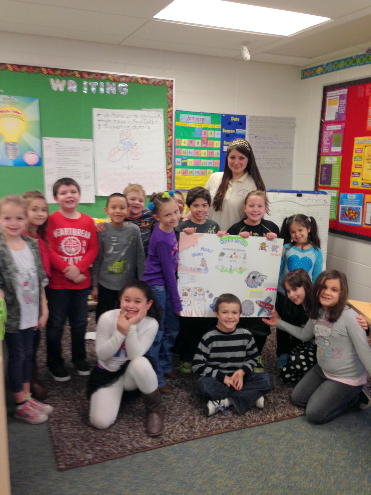 Ms. McCoy's second grade class at Louis Toffolon Elementary School with guest Ms. Luisa Gonzalez.