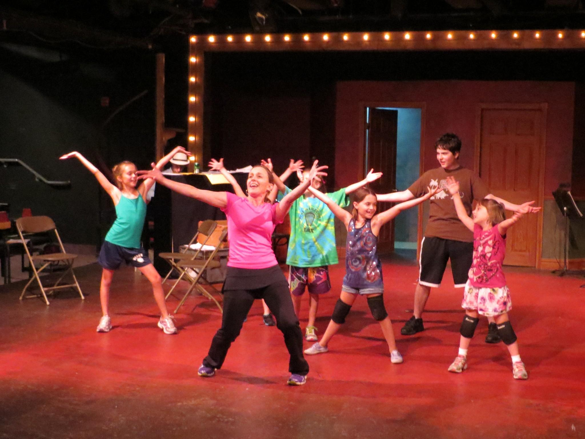 Broadway artist Susan Haefner leads a master class for students form the Young Actors Musical Theatre Preparatory Program, returning this summer to Playhouse on Park.