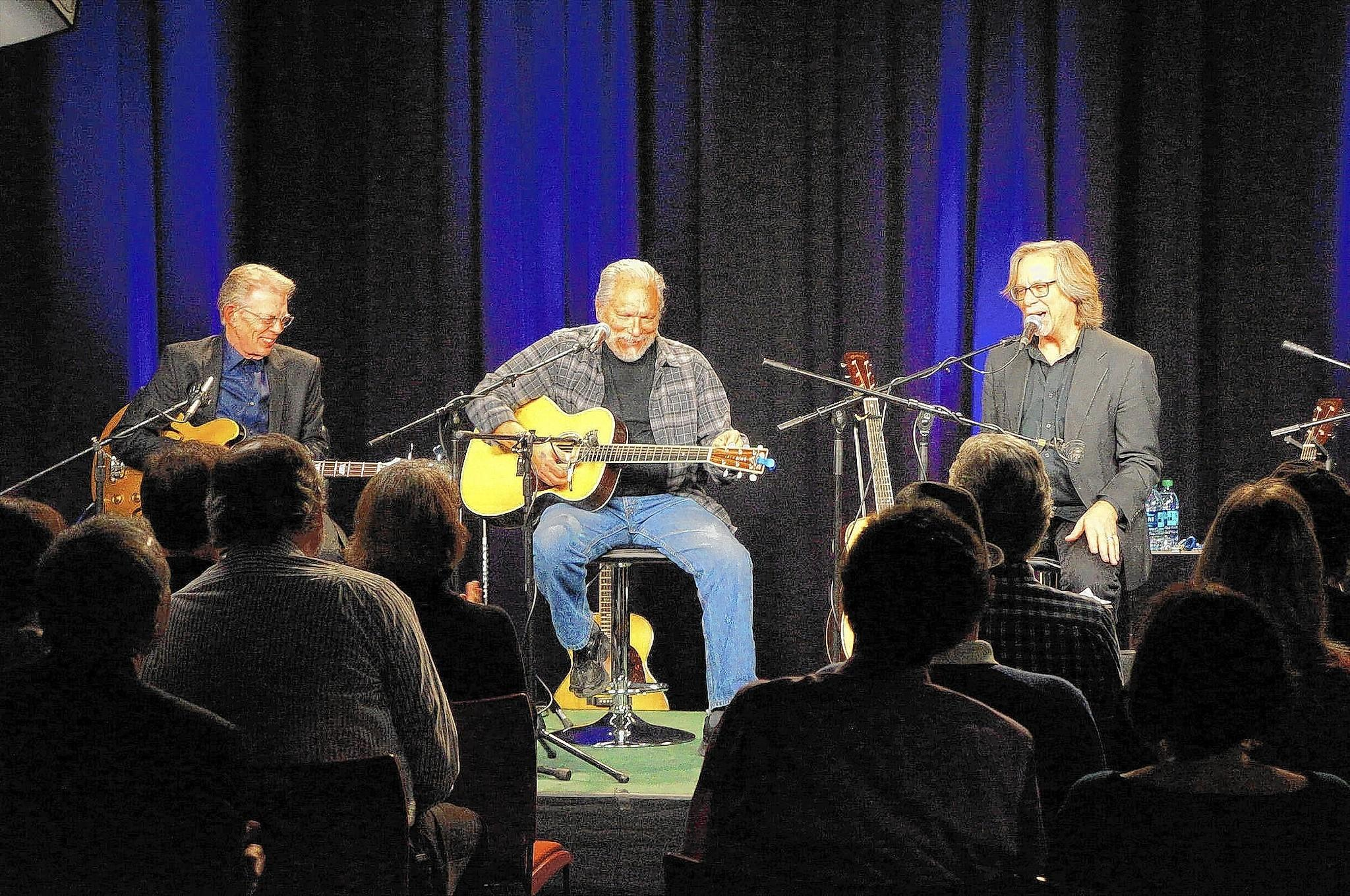 Lehigh Valley musician Craig Thatcher (right), with Jorma Kaukonen (middle) and Jack Casady of Hot Tuna in the PBS39 show 'Behind the Guitar.'