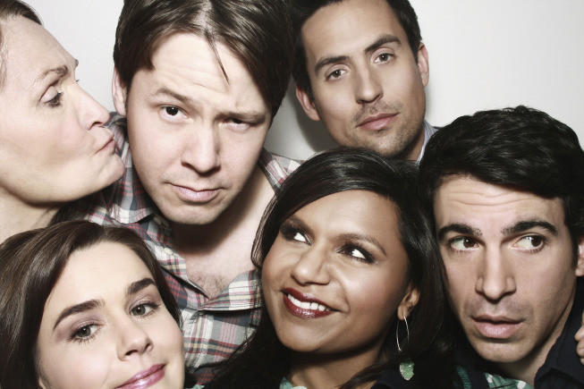 """The cast of """"The Mindy Project,"""" one of four shows Fox announced it will renew for the 2014-15 season."""