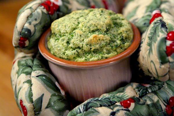 Soufflé of bitter greens.